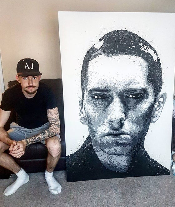 Image of Original hand painted Eminem