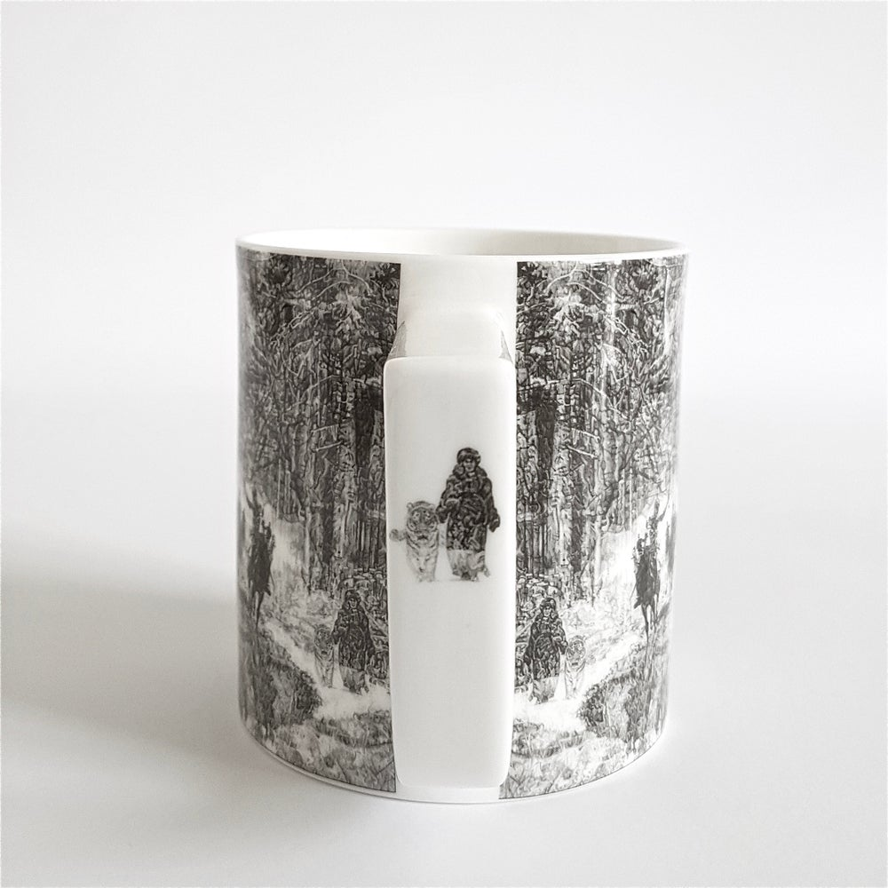 Image of SHH, IT'S A TIGER...BANG! FINE ENGLISH BONE CHINA MUG