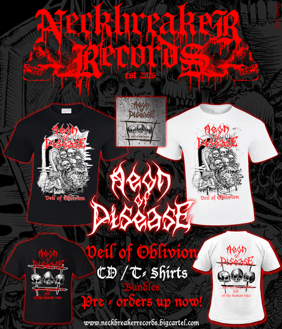 Image of Aeon of Disease - Veil of Oblivion Bundle I CD + Shirt White