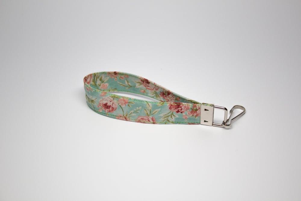 """Image of """"Floral"""" Key Fob Wristlet"""