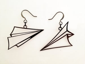 Image of Paper Airplane Earrings