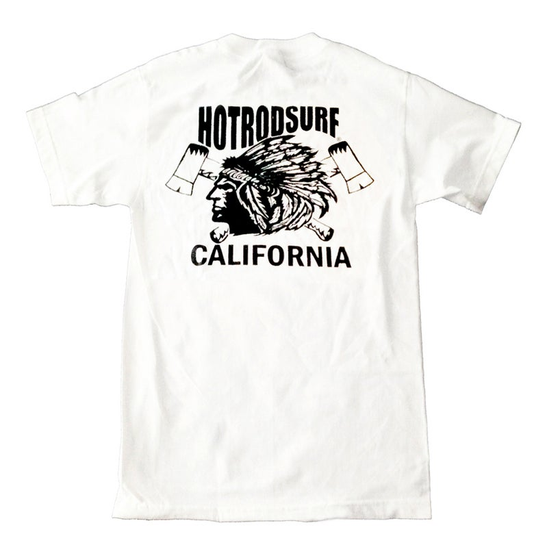 Image of Chief Tee Short Sleeve ~ HOT ROD SURF ~ Hot Rod Surf ® - White S/S Shirt