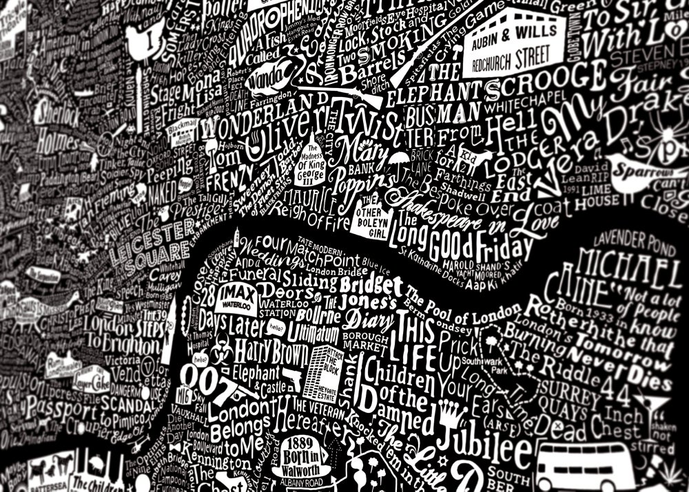 Image of London Film Map (Black Plike, 2017)