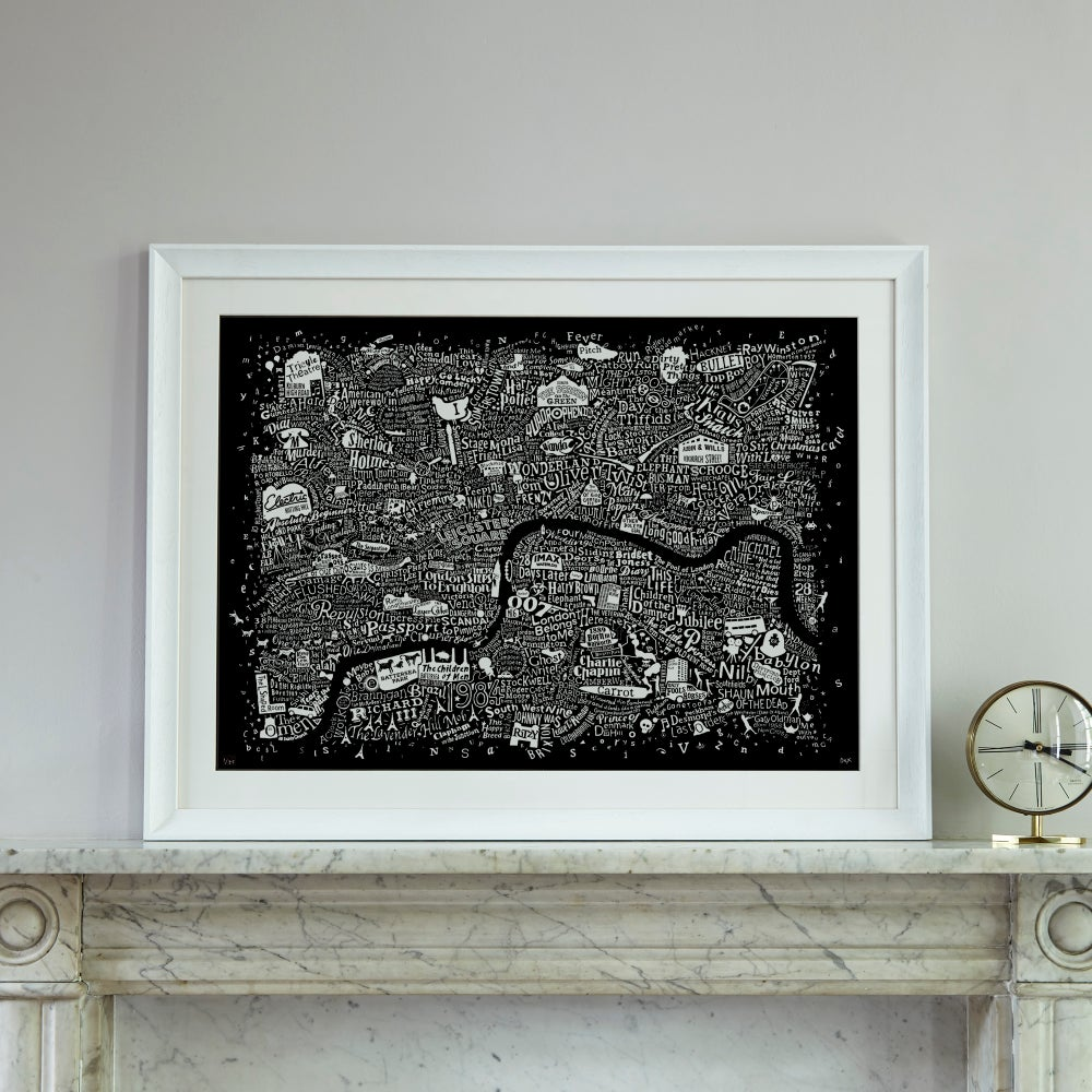 Image of London Film Map (Black Plike)