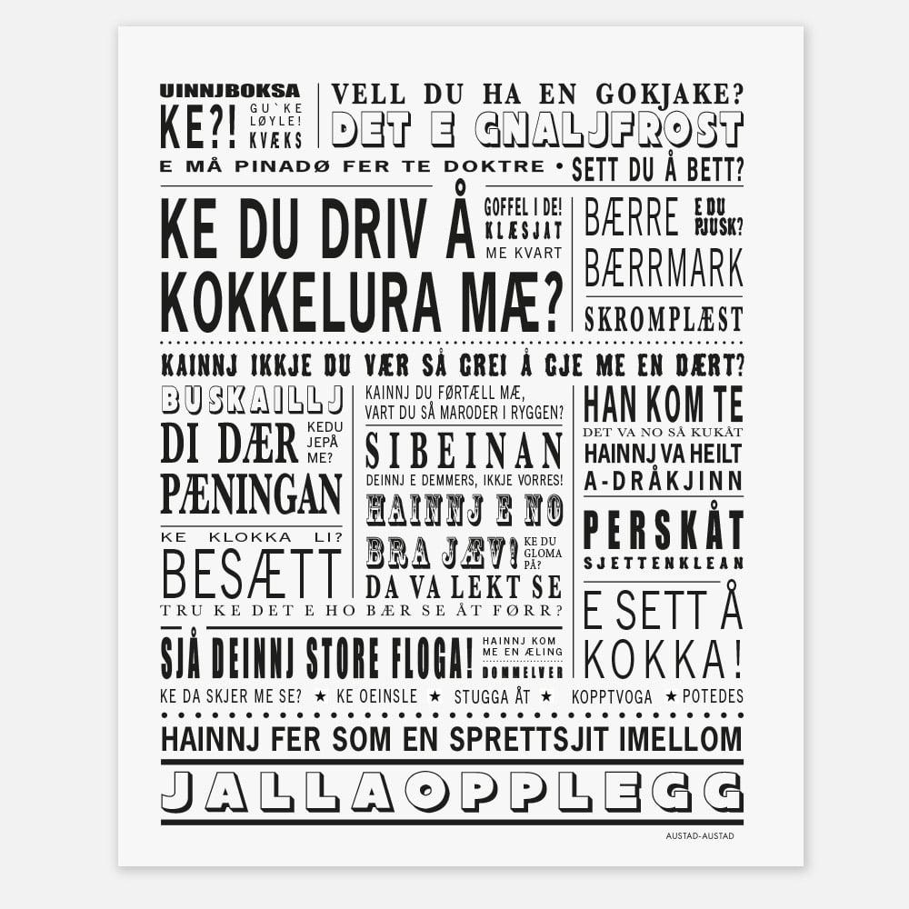 """Image of Helgeland plakat """"Ke du driv å kokkelura mæ?"""""""