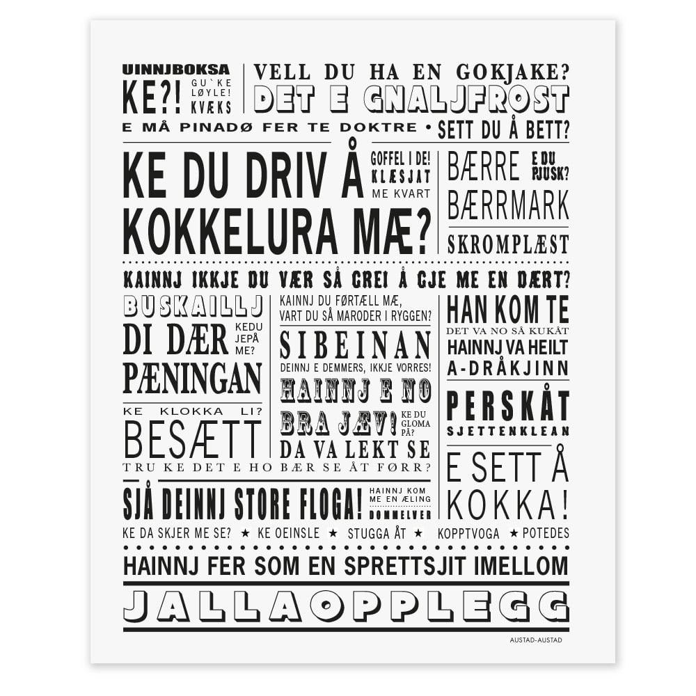 """Helgeland postkort """"Ke du driv å kokkelura mæ?"""""""
