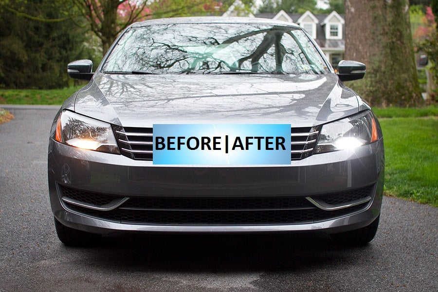 Image of LED Daytime Running Lights Kit Crisp Bright White - Error Free fits: B7 Passat