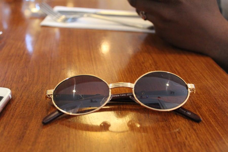 Image of Brooklyn Renaissance Gold Rimmed sunGlasses