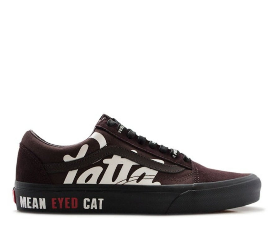 "Image of PATTA x BEAMS x VANS OLD SKOOL ""MEAN EYE CAT"" V36PATTA BROWN"