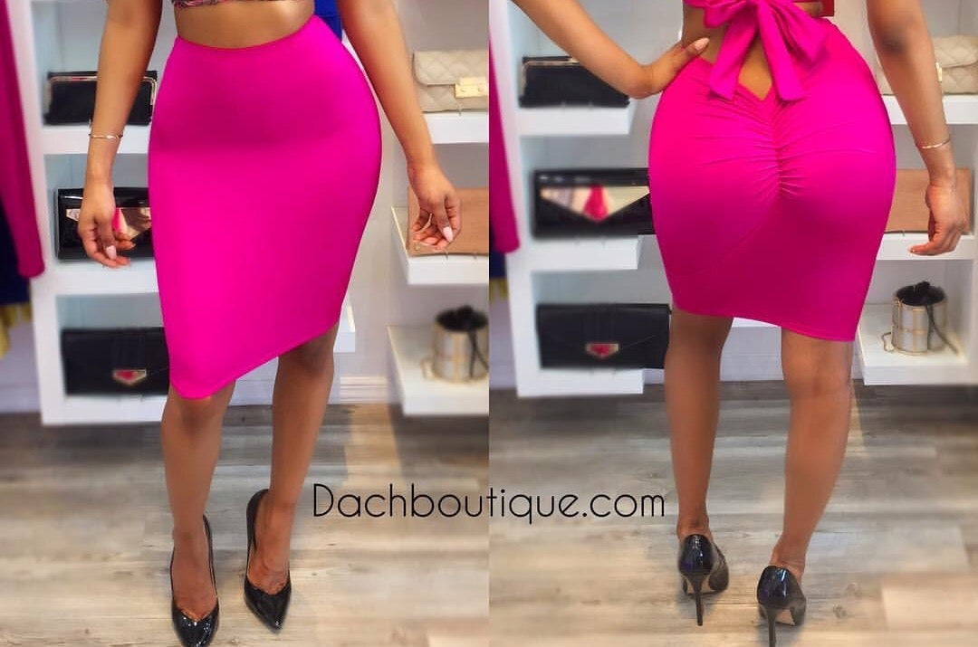 Image of Scrunched Up Skirt
