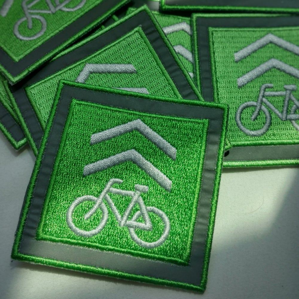 "Image of ""Bike Marshall"" Reflective Patch"