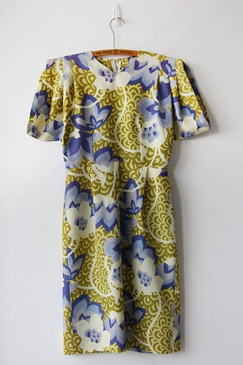Image of SALE Origami Sleeve Floral Dress (Orig $72)