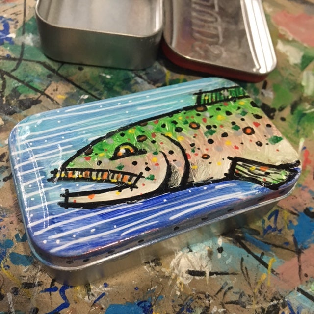 Image of Rainbow Trout Recycled Tin
