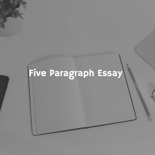 Image of Five Paragraph Essay(any topic)