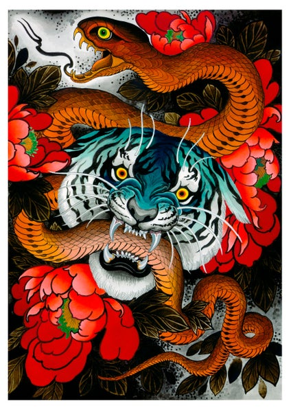 Image of BLUE TIGER (print)