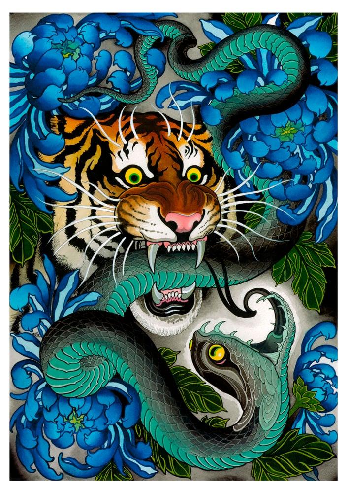 Image of OCHRE TIGER (print)