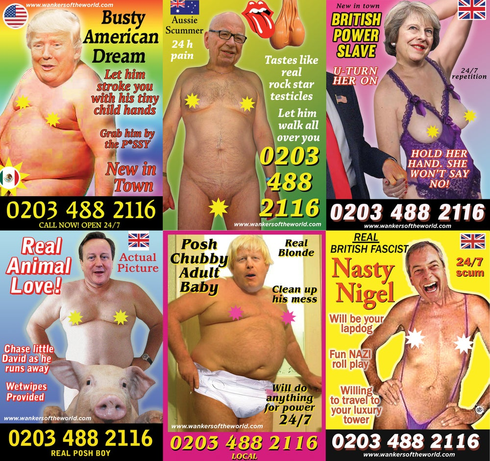 Image of Political whores flyer pack