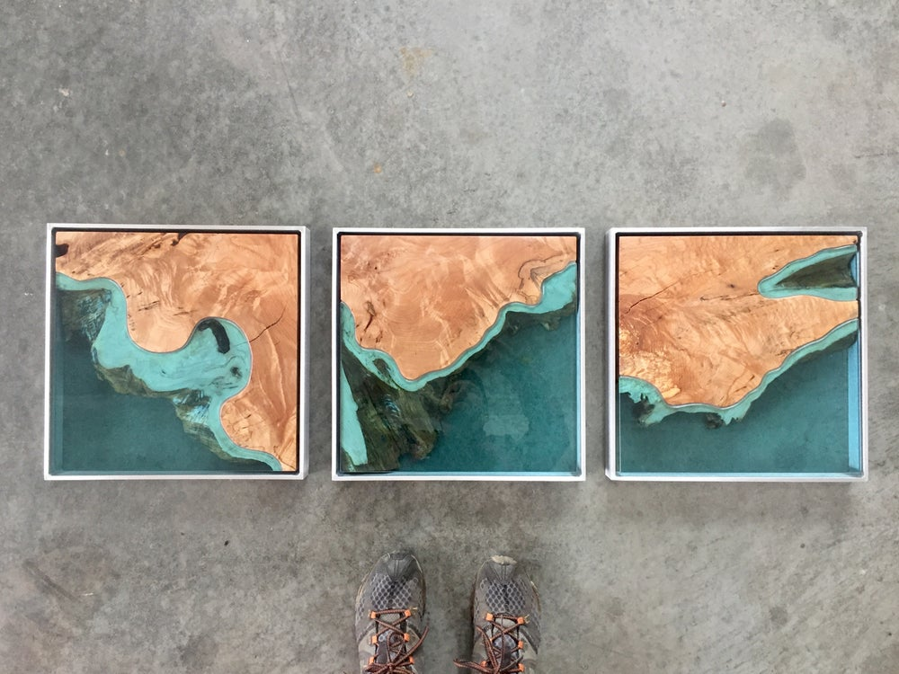 Image of aerial series no.2 - triptych
