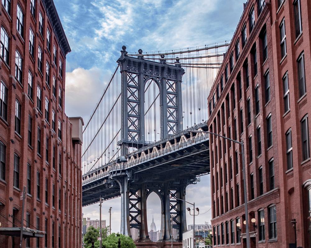Image of Manhattan Bridge From the Brooklyn Streets