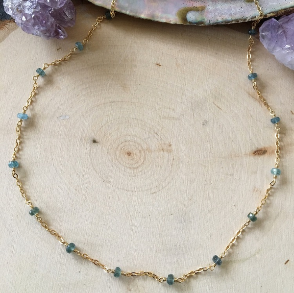 Image of Aquamarine choker