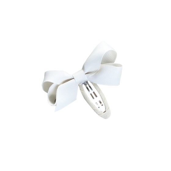 Image of Cream Barrette Bow Clip