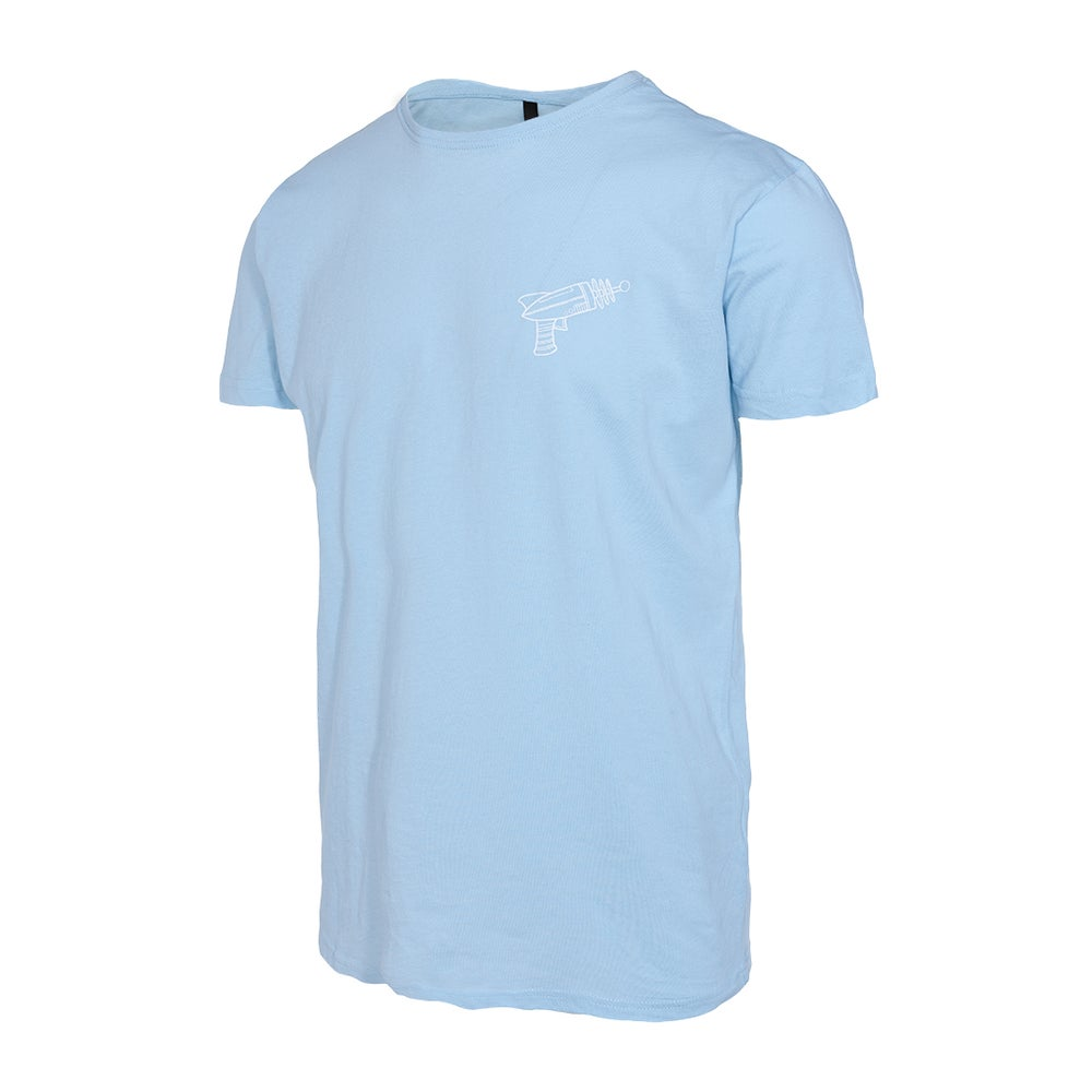 Image of Camiseta Alien Gun Azul Baby