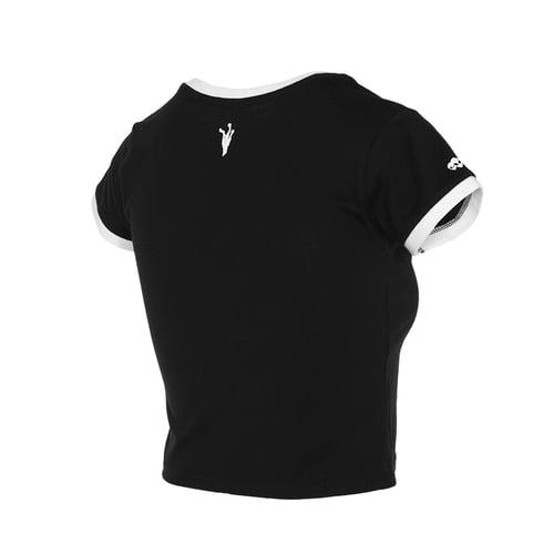 Image of Camiseta Space Anti-Human Black WOMAN