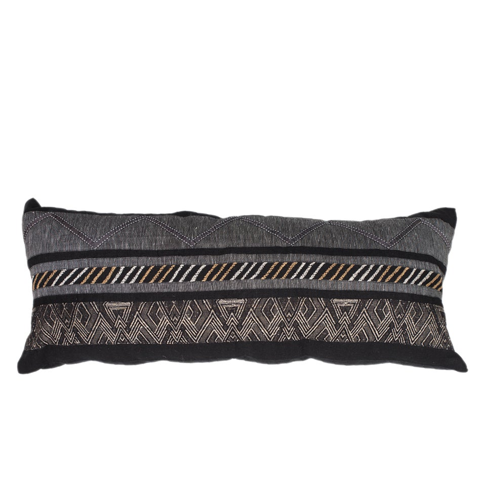 Image of Navajo Black Lumber Cushion