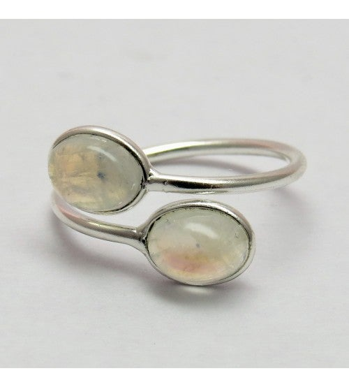 Image of Rainbow Moonstone Silver Ring