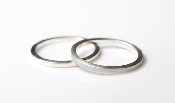 Image of Bohemian Thick Silver Stacking Ring