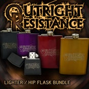Image of Hip flask/ Zippo Bundle