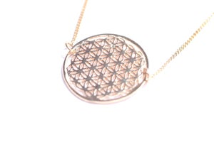 Image of Collier FLEUR DE VIE - FLOWER OF LIFE Necklace