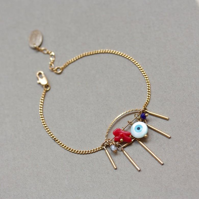 Image of Eye See You - Bracelet métal doré