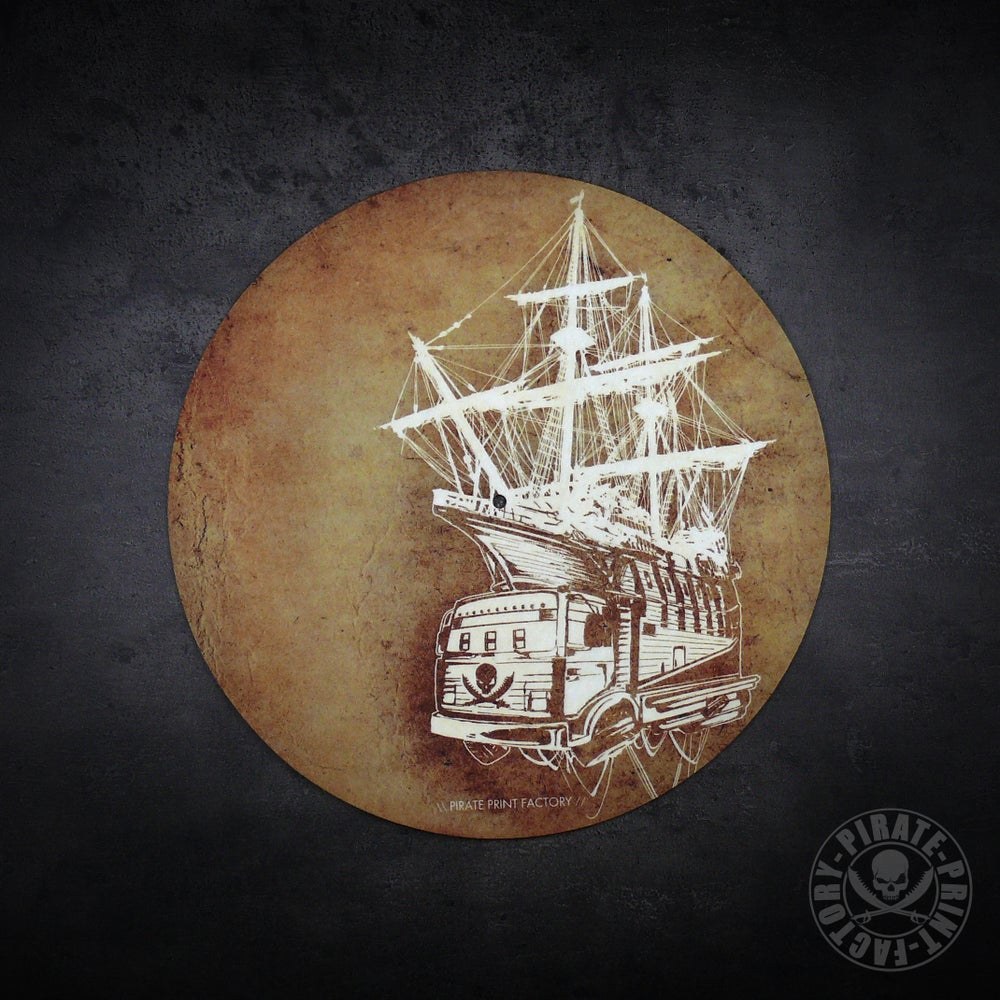 Image of Feutrine Pirate Boat Old Paper