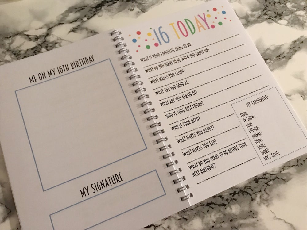 Image of Personalised Birthday Interview Book