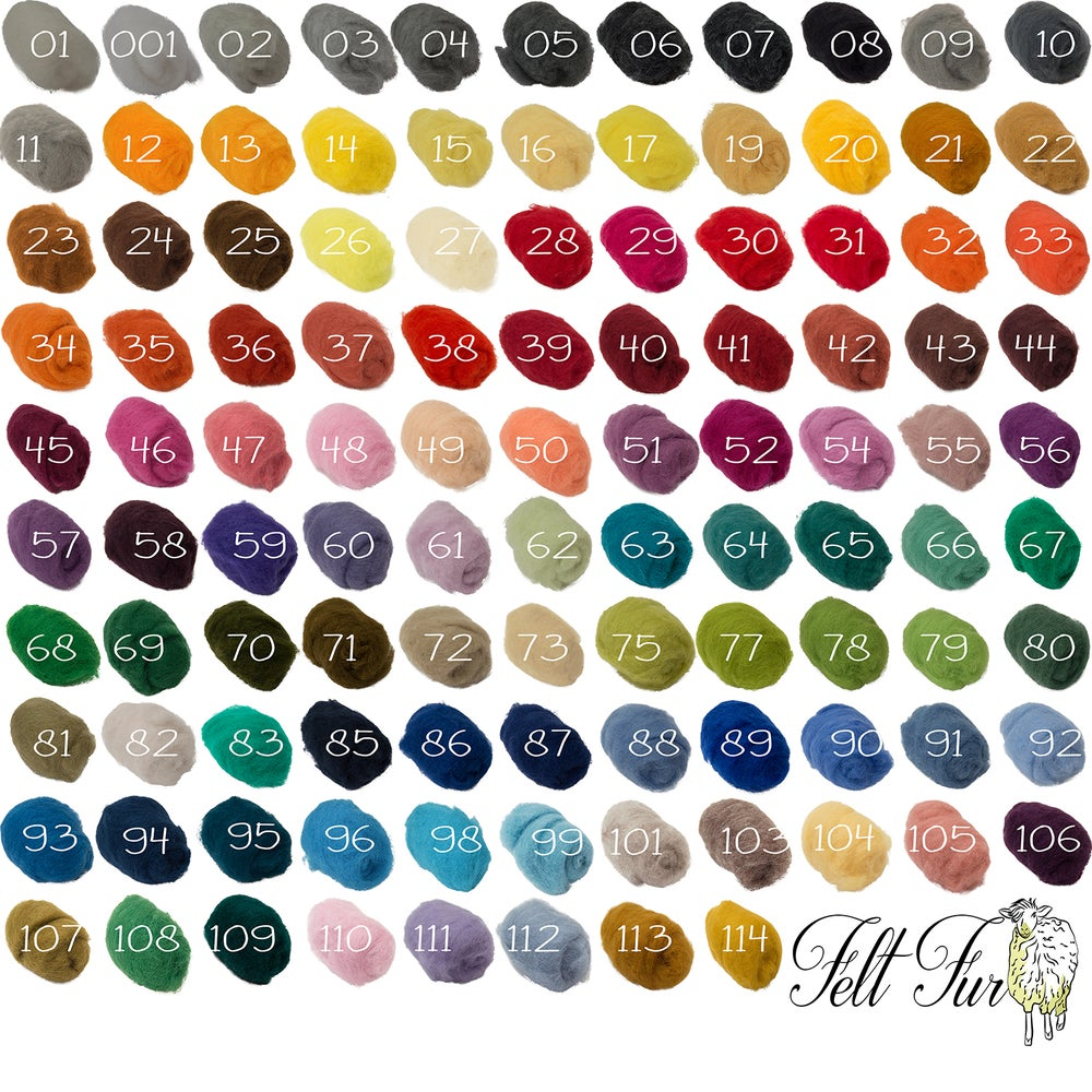 Image of Fluffy Wool Photo Prop,  Felt Basket Filler  100 Colours in stock