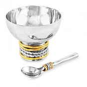 Image of RAVENNA SALT CELLAR WITH SPOON