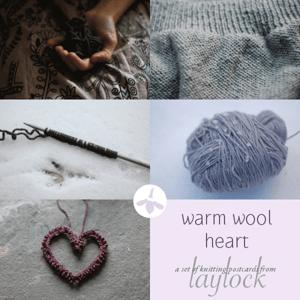 Image of Warm Wool Heart Postcard Set