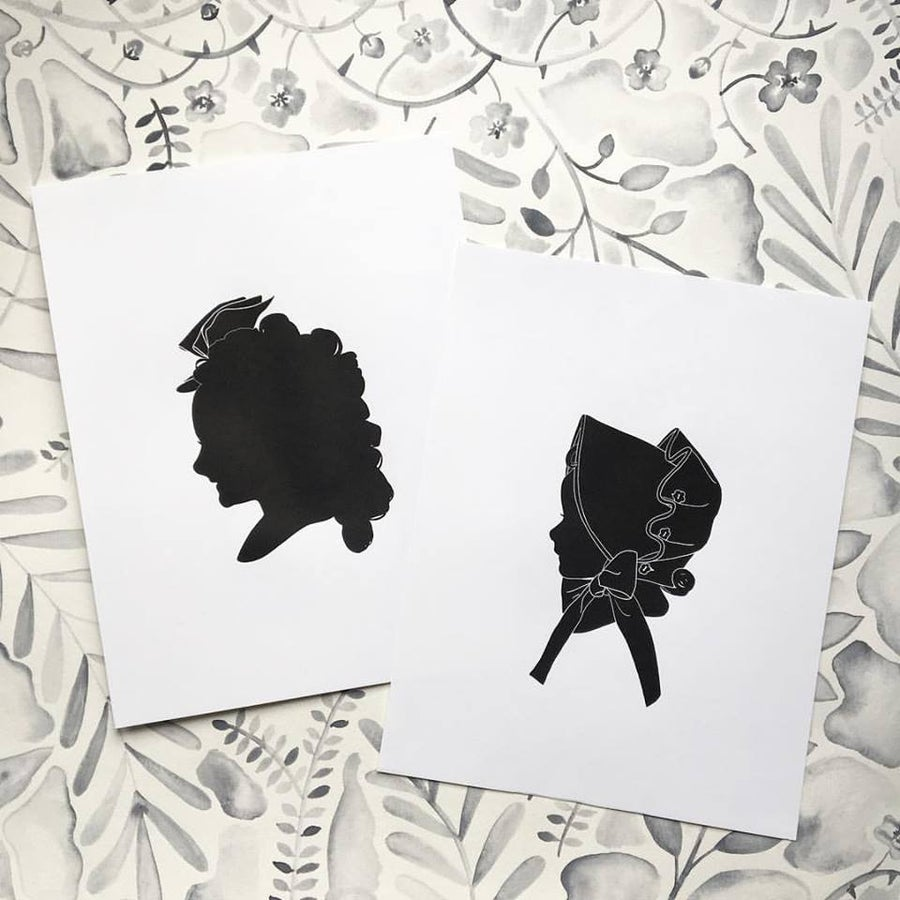 Image of Custom B&W DIGITAL Silhouette Portrait