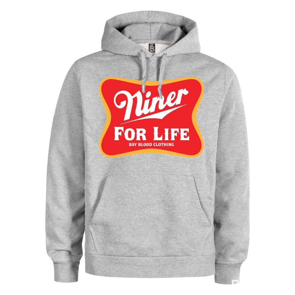 Image of Niner For Life Hoodie (grey)