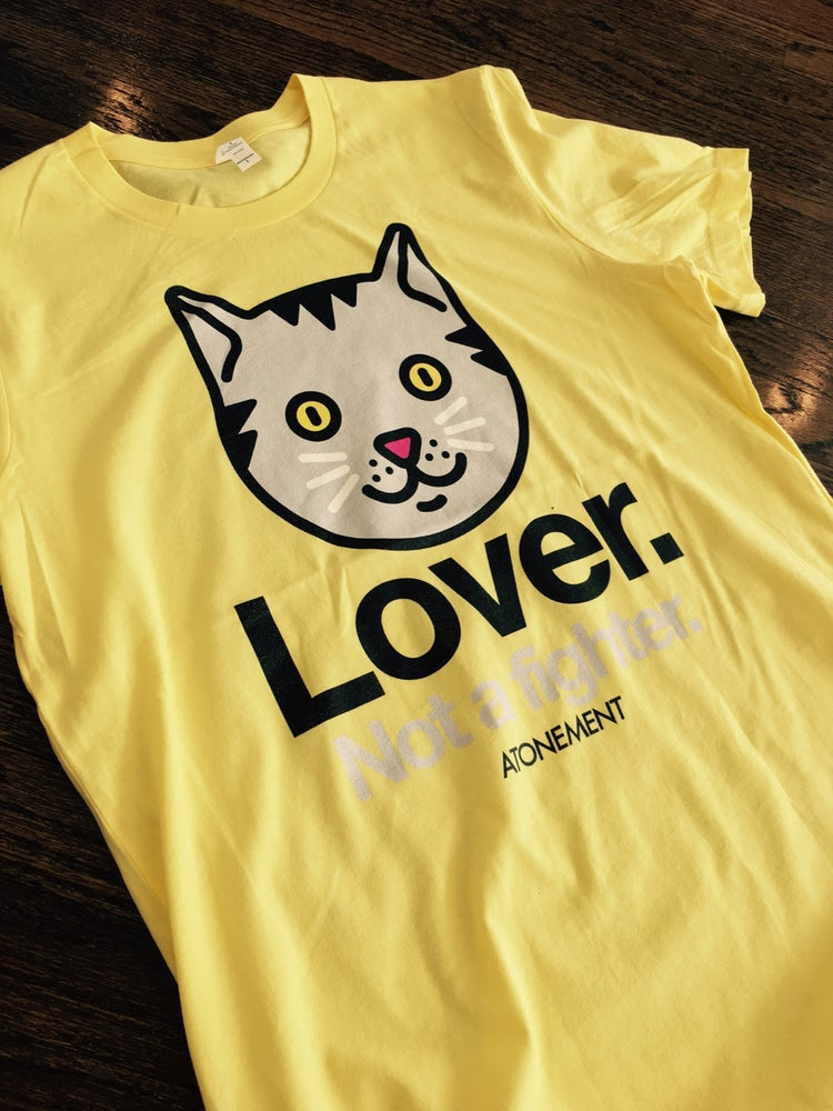 "Image of The ""Lover"" Tee in Yellow"
