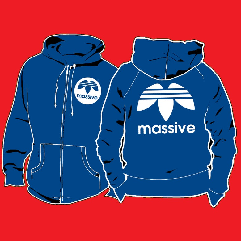 Image of Massive Logo: Zippered Hoodies