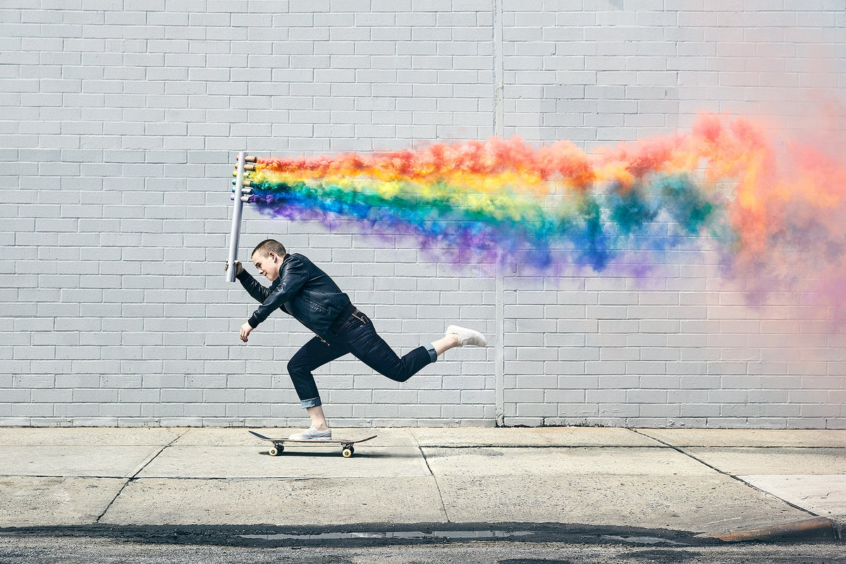 Image of Lacey Baker Rainbow Push