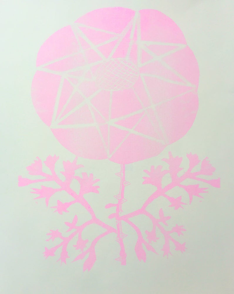 Image of PINK GEO POSY CARD
