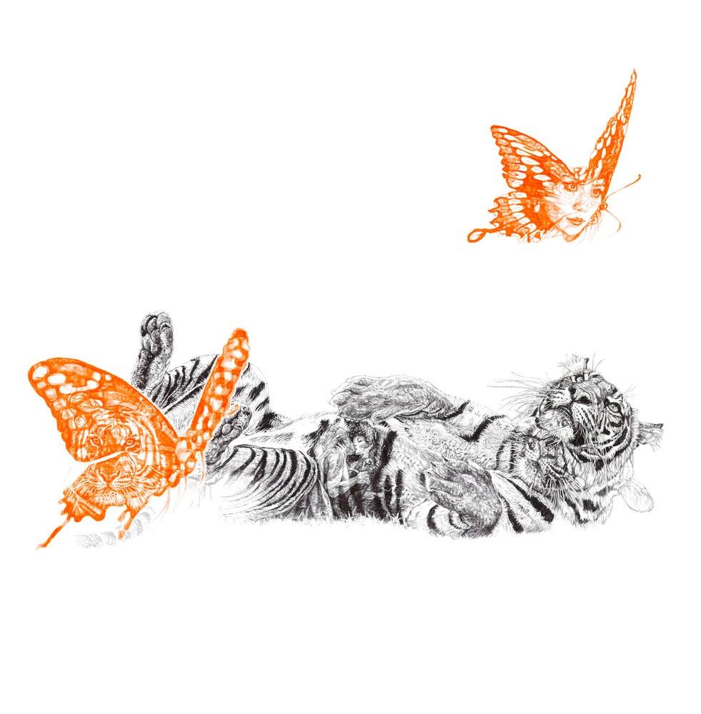 Image of BUTTERFLY LOVER LIMITED EDITION PRINT
