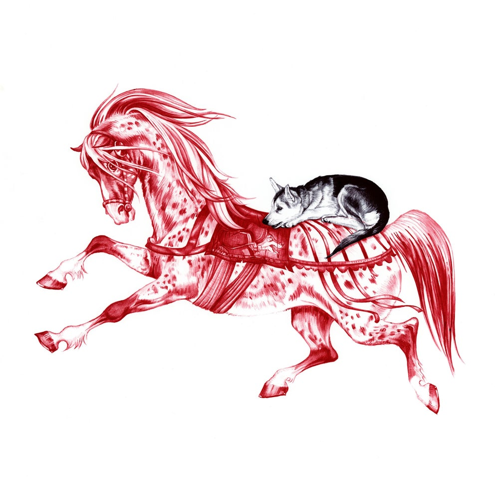 Image of THE HORSE AND THE WOLF CUB LIMITED EDITION PRINT