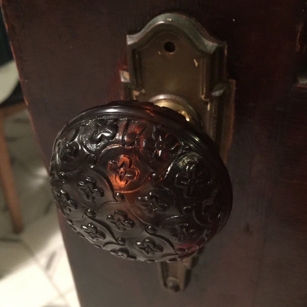 Image of Banded Madras Pattern Door Knob