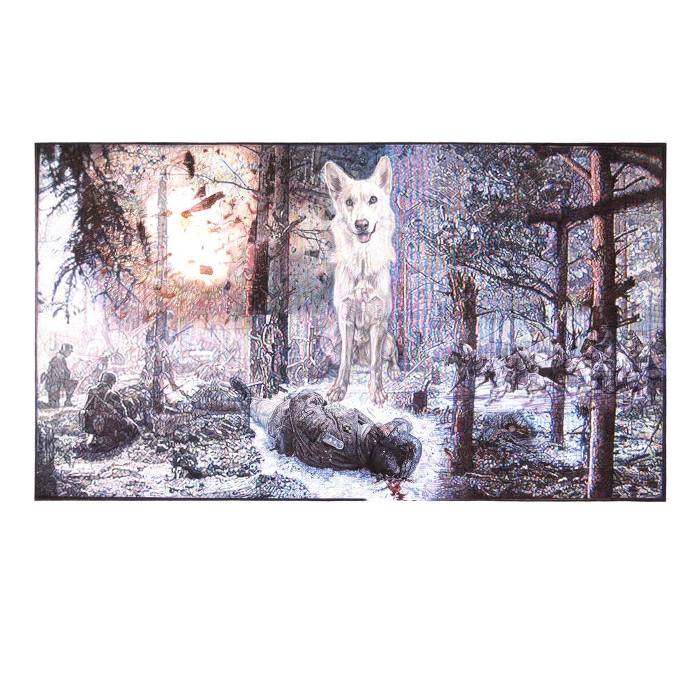 Image of TV SCREEN III - EAST MEETS WEST, FORESTS MEMORIES LIMITED EDITION PRINT