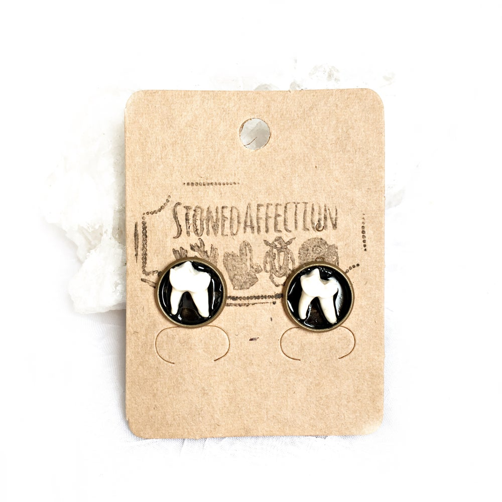 Image of Fox Teeth Bronze Studs