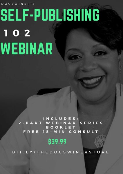 Image of 2-part webinar series for Self-Publishing 102 Workshop